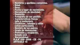 REGISTRO NACIONAL DE REQUISITORIAS