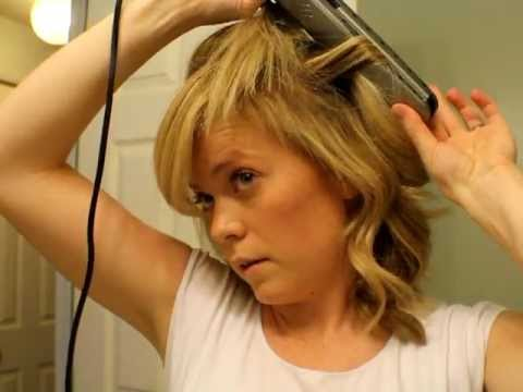 Part How To Curl Your Hair With Straightener