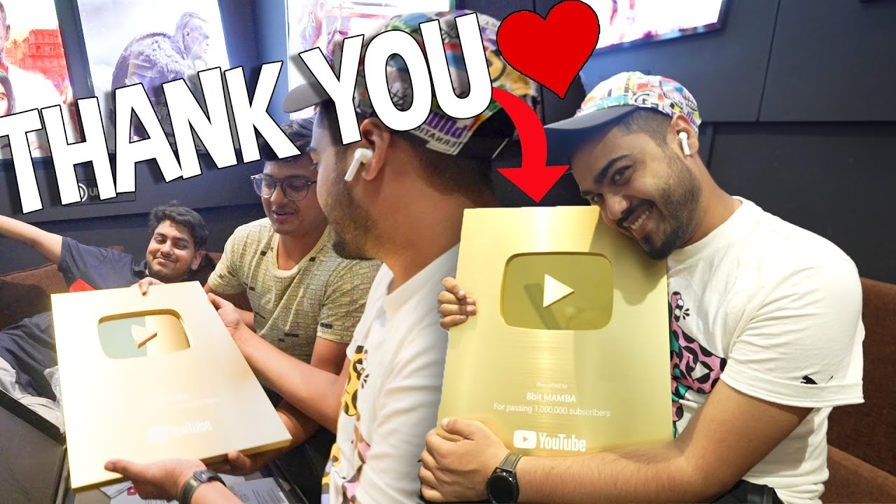 UNBOXING MY GOLD PLAY BUTTON & WE ARE PLANNING SOMETHING FOR ALL S8UL PLAY BUTTONS