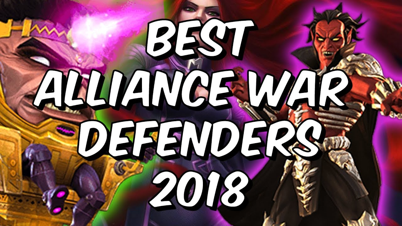 Best Alliance War Defenders 2018 - Seatin's Defence Tier List - Marvel  Contest Of Champions