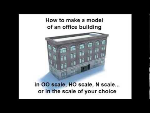 Constructing Railroad Model Buildings – Model Railroad Office Building B424