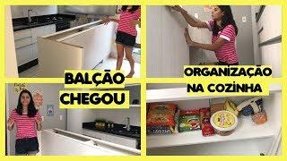 BALÇÃO DA COZINHA CHEGOU + Organizando a cozinha