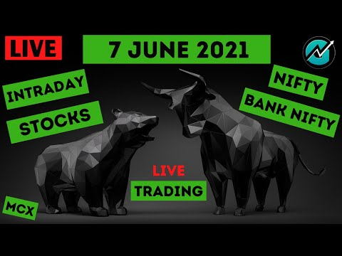 Live Intraday Trading on 7 june 2021   Nifty Trend Today   Banknifty Live Intraday Strategy Today