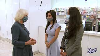 HRH The Duchess of Cornwall visits Boots Piccadilly - 28 July 2020