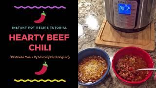 Instant Pot Chili Recipe Tutorial