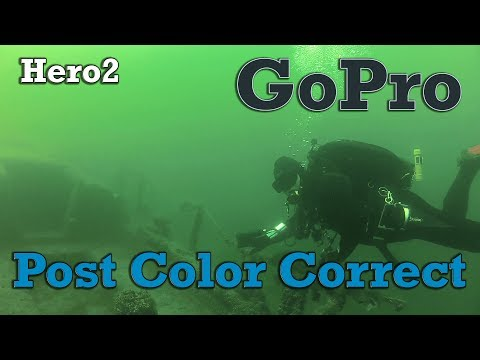 GoPro Post Color Correction - Diving Lake Havasu Site 5 - Wrecks, Dive Park, Vehicles