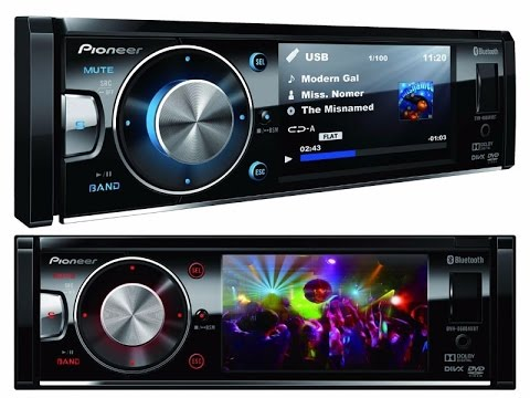 pioneer dvh 8680 avbt bluetooth usb dvd auto radio mp3 aux lcd 3 5 youtube. Black Bedroom Furniture Sets. Home Design Ideas