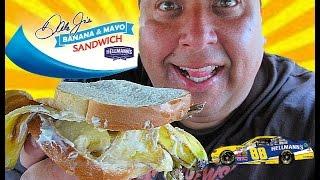 dale earnhardt jr s banana mayo sandwich review