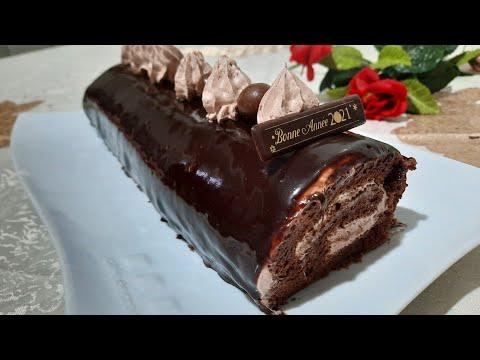 gâteau-roulé-au-chocolat-🍫(-swiss-roll-)-قاطو-رولي-بالشكلاطة-بطريقة-ساهلة-وبمكونات-بسيطة-❤