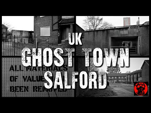The Abandoned High Street Estate - Hanky Park - Salford - Urbex UK - A Post Apocalyptic Ghost Town