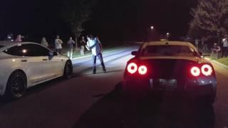 Bolt on E85 GTR vs Ludicrous Tesla SCT '17