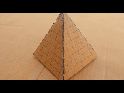 How to Make a Cardboard Pyramid | making a pyramid out of cardboard