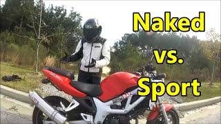 Naked vs Sport Motorcycles