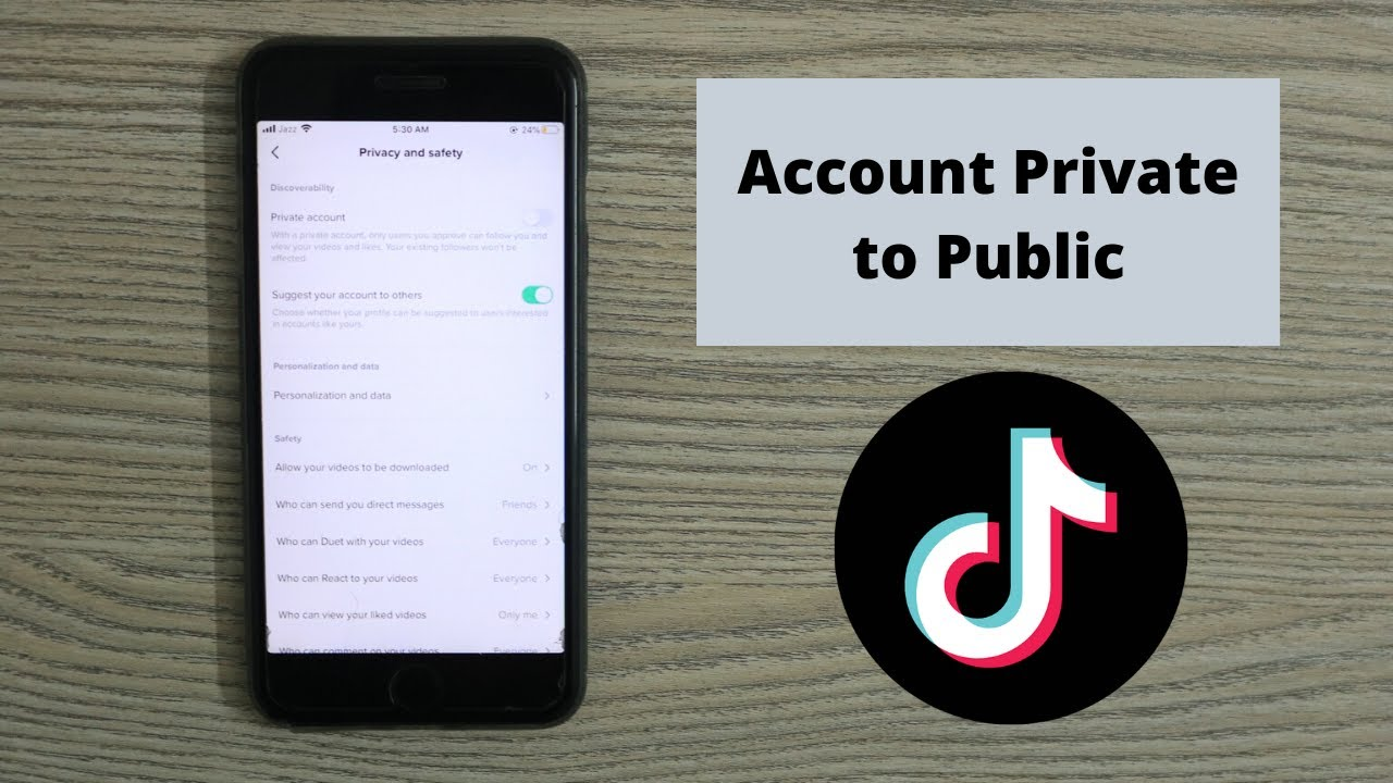 How To Make Tiktok Account Private To Public 2021 Unprivate Your Tiktok Account Youtube