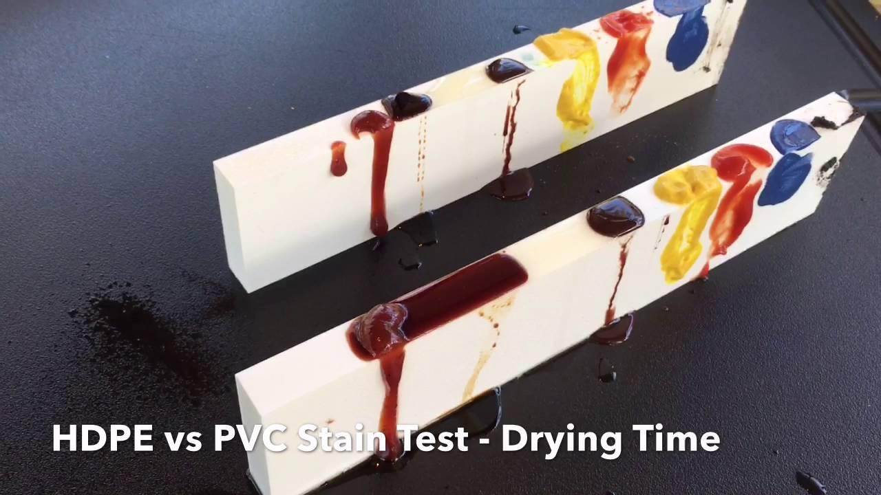 Hdpe Vs Pvc Stain Test Youtube