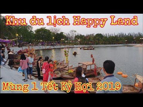 Toàn cảnh khu du lịch Happy Land Bến Lức - Long An mùng 1 Tết Kỷ Hợi 2019