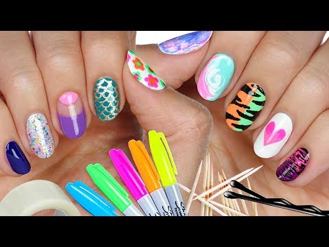 10 Nail Art Designs Using HOUSEHOLD ITEMS! | The Ultimate Guide #4