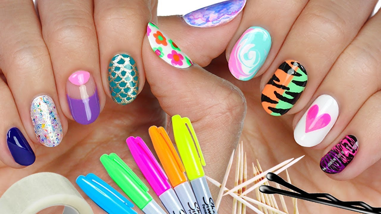 10 Nail Art Designs Using Household Items The Ultimate Guide 4 Youtube