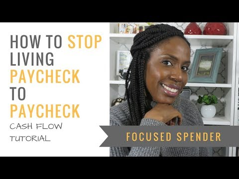 How to Stop Living Paycheck to Paycheck!! Cash Flow Tutorial +Freebie