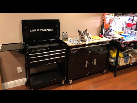 BOTAJELL's New Tool Box Add On To RC Work Shop(Harbor Freight,U.S. General 4 Draw Roller Tool Cart)