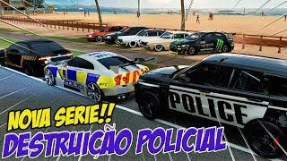 ZOIOOGAMER AGORA VIROU POLICIA!! - DESTRUIÇÃO POLICIAL NOVA SÉRIE!! - FORZA HORIZON 3