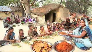 गरीबो की दिवाली II नहीं देखा होगा ऐसा GARIBO KI DIWALI पूड़ी, हरी सब्जी, मीठी बूंदी के साथ THANK YOU