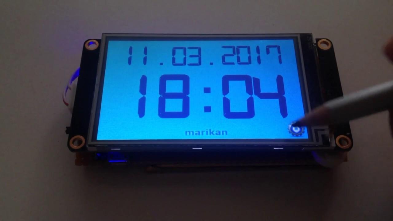 Nextion TFT Display Digital Clock