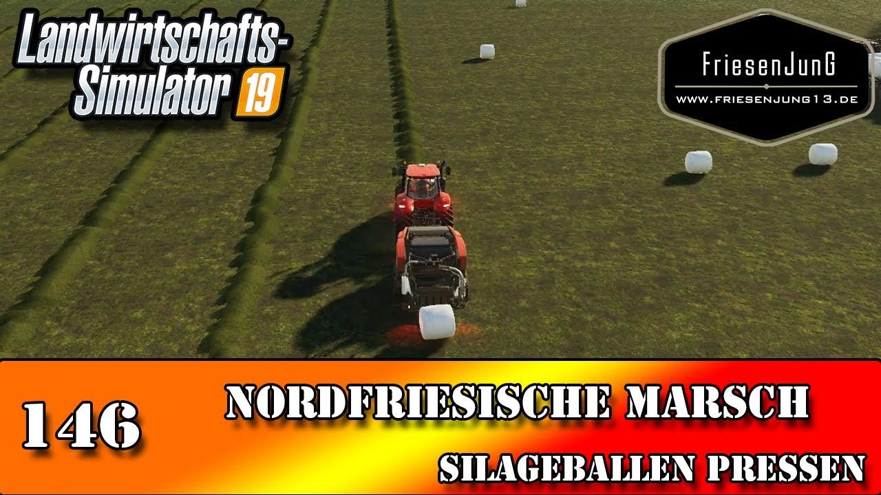 LS19 Nordfriesische Marsch 146 - Silageballen pressen
