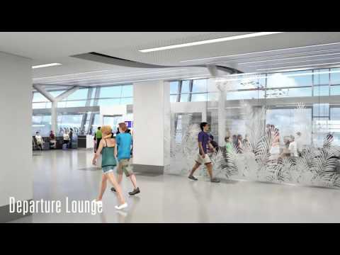 L.F. Wade International Airport animation walkthrough