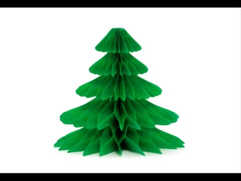 How to make a paper christmas tree youtube for Christmas tree decorations you can make at home