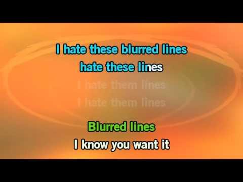 Robin Thicke Blurred Lines Karaoke
