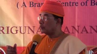 Swami Ishatmananda speaks at Ramakrishna Ashrama, Naora (Bengali)