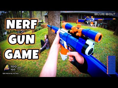 NERF GUN GAME | MODDED MAYHEM 2.0 (First Person Shooter in 4K!) - Видео приколы ржачные до слез