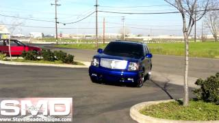 Candy Blue Paint + California Sun - Escalade Bagged on 26