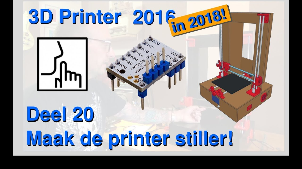 Stillere printer met TMC2130