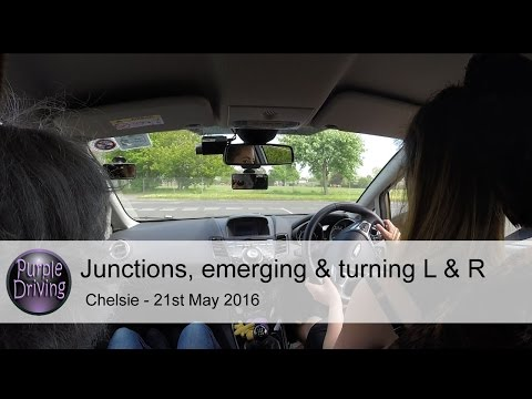 Junctions, emerging & turning left & right, & roundabouts...Chelsie