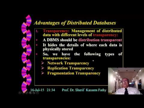 Distributed Database System By Prof Sherif Kassem Fathy