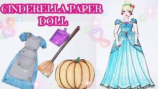Cinderella Paper Doll Queit Book - Making Dresses and Shoes - Búp Bê Giấy Lọ Lem