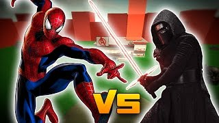 SPIDERMAN VS KYLO REN? - Roblox Superhero Tycoon!