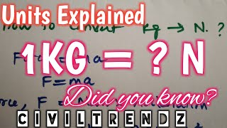 1 Kg is equal to how many Newton (N) ?