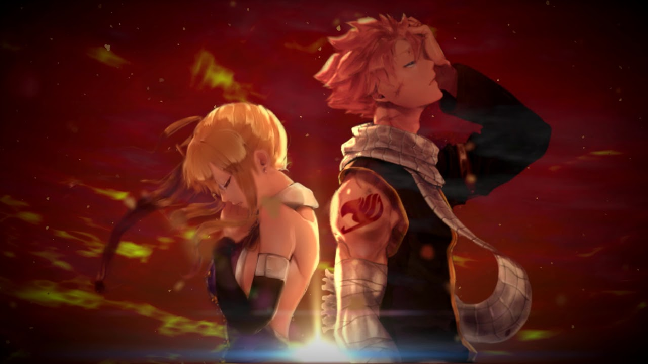 natsu and lucy animated wallpaper - YouTube