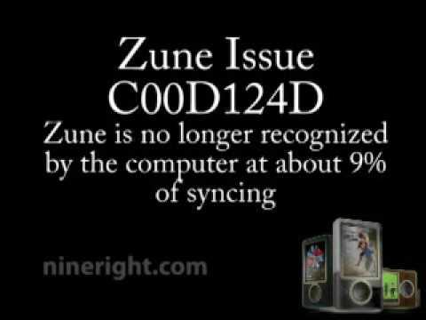 Zune Sync Problem C00D124D