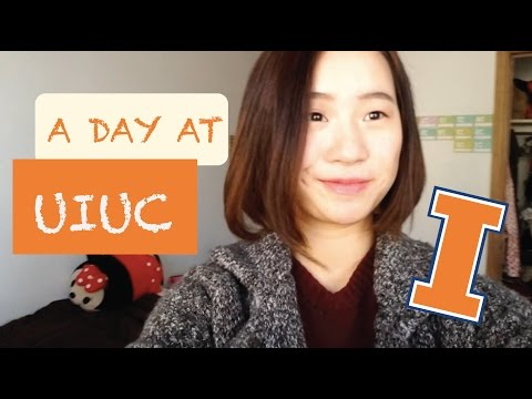 A day at the University of Illinois at Urbana Champaign || International student