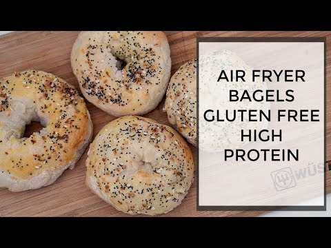 AIR FRYER BAGEL ReCIPE High Protein & gluten Free