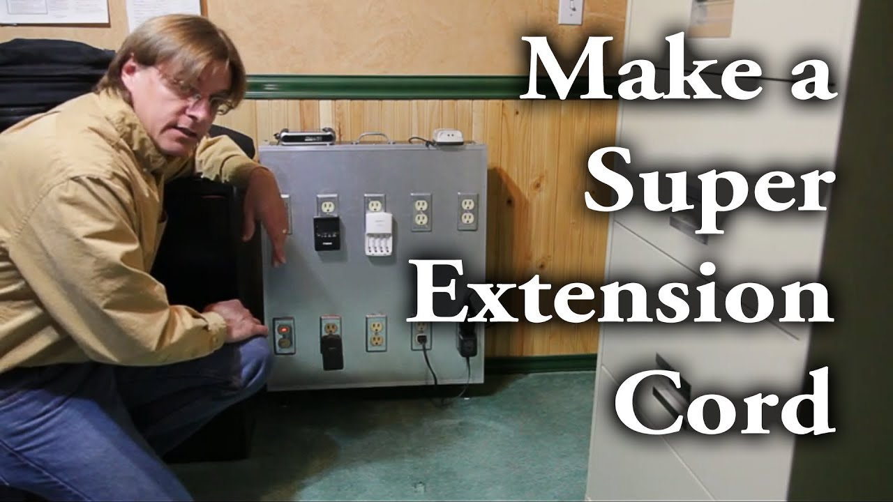 110v Receptacle Wiring How To Make A Quot Super Quot Extension Cord Aka Power