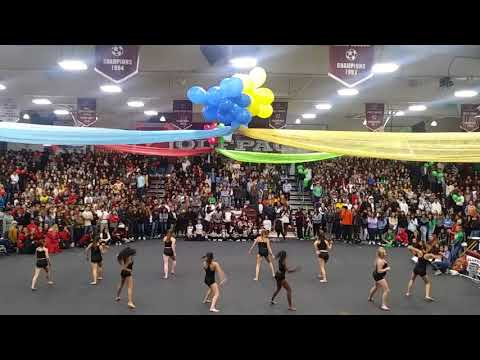 Claremont High School Dance Team at rally