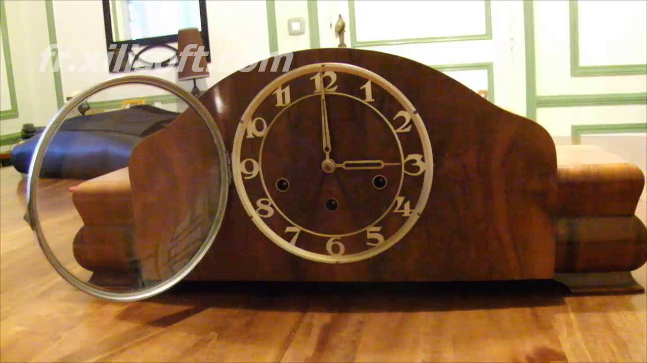 horloge art d co sonnerie m canisme youtube. Black Bedroom Furniture Sets. Home Design Ideas