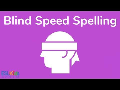 ESL Game: Blind Speed Spelling
