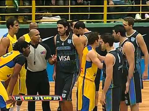 London 2017 Brazil Vs Argentina Basketball Players Brawl On Court Brasil 91 X 75