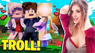 TROLLING MY BEST FRIEND AS A GIRL in Minecraft!